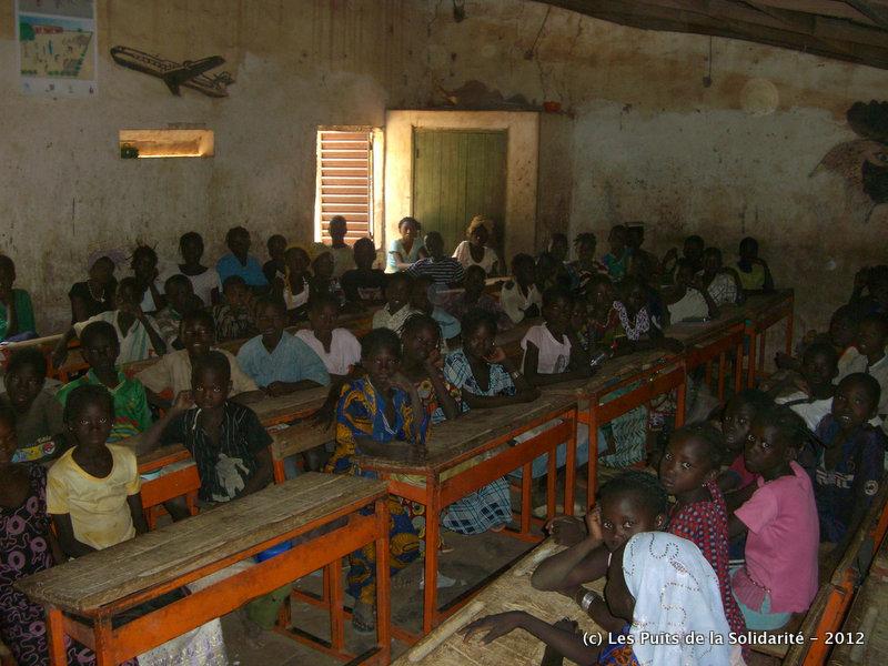 Salle de classe d'un bâtiment à réhabiliter